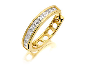 9ct Gold Mens Cubic Zirconia Single Hoop Earring product image
