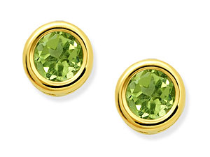 Peridot Birthstone Earrings - August