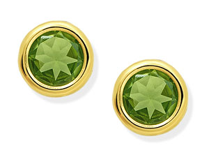 Peridot Earrings 6mm - 070965