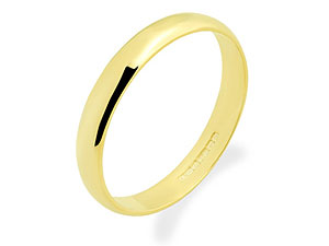 9ct Gold Plain Brides Wedding Ring 4mm - 185837