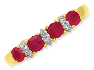 9ct gold Ruby and Diamond Half Eternity 048233-M product image