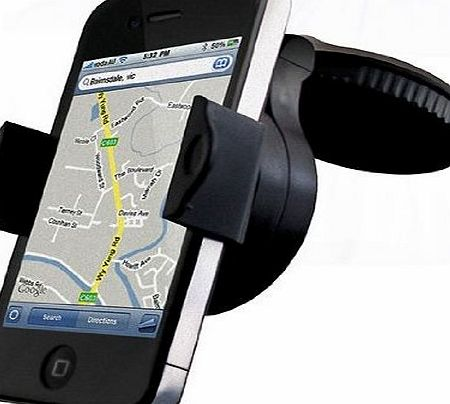The Original Simply Electronics Universal Stick Anywhere Mobile Phone Car Windscreen / Dash Mount Cradle Mobile Phone Car Holder, Rotate & Lock to Windscreen - Fits all Mobile and Smartphones up t