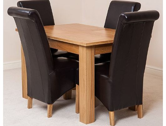5 extending dining table : a2z furniture stores hampton solid oak extending dining table and 4 brown montana c from www.comparestoreprices.co.uk size 530 x 403 jpeg 27kB