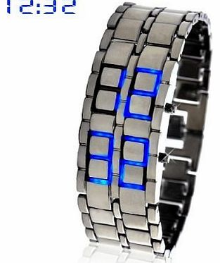Accenter Blue Led Digital Lava Iron Style Metal Sports Watch product image