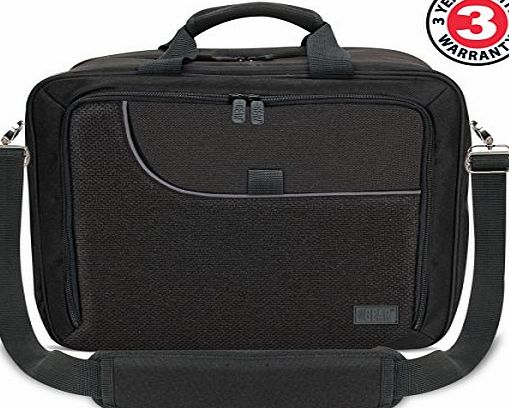 Accessory Power USA GEAR Professional Portable Projector Travel Carrying Case with Protective Padded Interior , Adjustable Shoulder Strap - Works with Elephas , BenQ , Epson and More. *Includes Accessory bag*