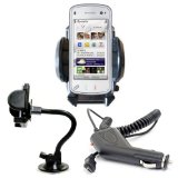 Brand New Shop4accessories Car Kit: Windscreen Suction Mount Holder and In Car Charger for the HTC MAGIC G2