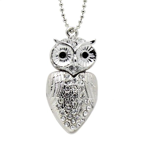 Accmart 8 GB Owl Shaped Crystal Jewelry USB Stick Storage Flash Memory Pen Drive Necklace product image