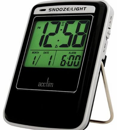 14773 Lucas Multifunction LCD travel alarm with Smartlite®