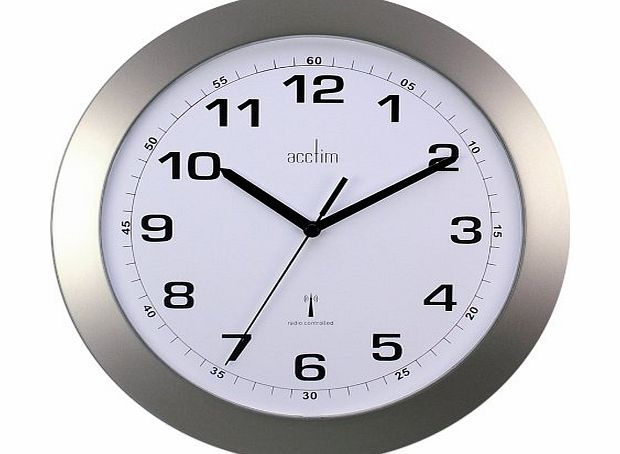 Acctim Cadiz Silver Radio Controlled Wall Clock