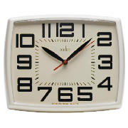 Acctim Daphne Retro Wall Clock, Cream product image