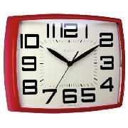 Acctim Daphne Retro Wall Clock, Red product image