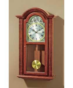 Acctim Radio Controlled Dark Oak Regulator Wall Clock