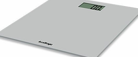 Accuweight Digital Body Weight Glass Electronic Bathroom Scale with Wide Platform, 400lb/180kg