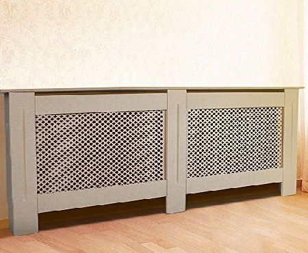 AceFox Premium Radiator Cover Cabinet Unpainted MDF Wood Large Size UK