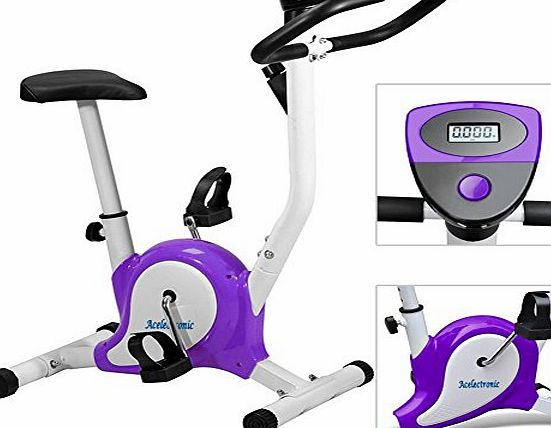 acelectronicuk Exercise Bike,Acelectronic Top Quality Safe Professional Exercise Bike Top Quality Fitness Cardio Workout Machine Adjustable Resistance (Black)