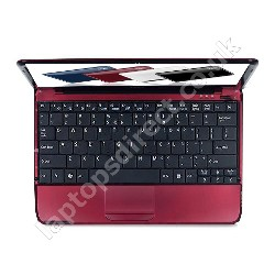 ACER Aspire One 751h Laptop in Red - 7 Hour Battery Life