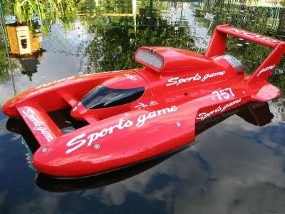 Acme Red Speed Storm Plastic Electric RADIO CONTROLLED BOAT product image