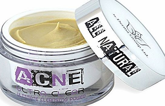 Acne Ultra Clear Natural Acne Treatment Cream - Best Non Greasy Organic Spot Remedy for Cystic and Hormonal Acne, Suitable for Adult and Teenage use, Day and Night and EU Certified - Start Clearing Your Acne Today!