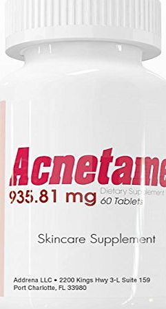 Acnetame 935.81mg Vitamin Pills for Acne Treatment- 60 Natural Tablet Supplements