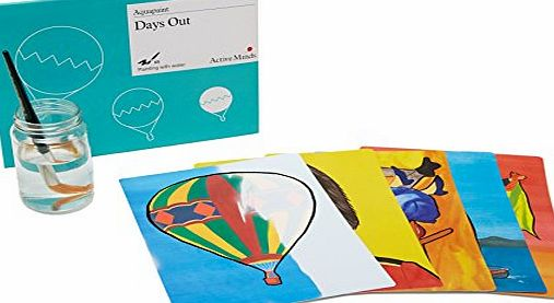 Active Minds Aquapaint - Days Out. An art / painting activity designed for people with dementia / Alzheimers.