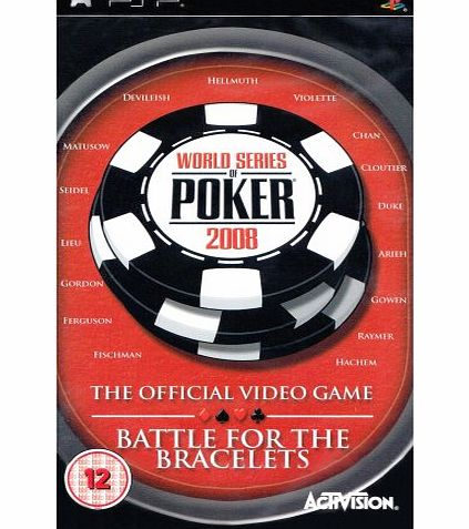 Activision World Series Of Poker 2008 Battle For The Bracelets PSP product image