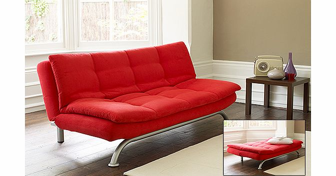 Cheap Fabric Sofas Online Actona Novara Sofa Bed - Red - review, compare prices, buy ...