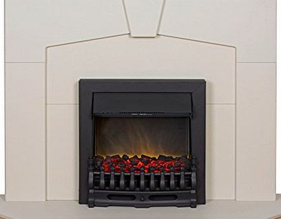Adam Abbey Stone Effect Fireplace Suite with Black Blenheim Electric Fire, 2000 Watt