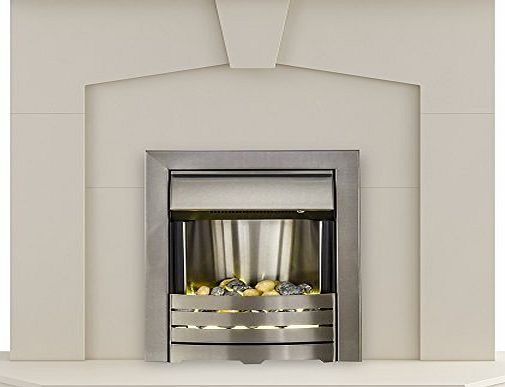 Adam Fire Surrounds The Abbey Modern Fireplace with Helios Electric Fire