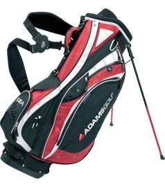 STAND CARRY GOLF BAG Black/Red/White