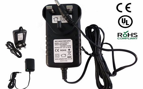 Adaptors4U Iomega 1TB External Hard Drive HD 12V 1.5A Mains AC Adaptor Power Supply UK product image