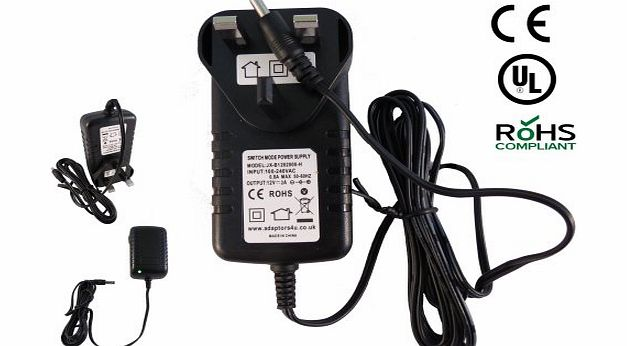 Adaptors4U Nextbase SDV49A SDV 49 A Portable DVD Player Mains AC Adaptor Charger