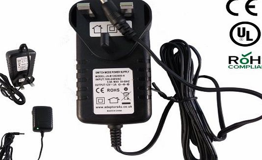 Adaptors4U UK 12V Mains AC-DC Adaptor Charger for Philips PD7030/12 Portable DVD Player