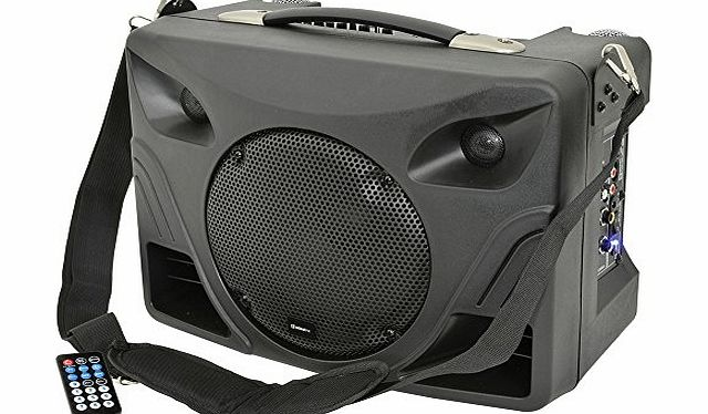 Adastra DT50 Portable Desktop PA System with 2 Microphones and Integrated MP3 Player