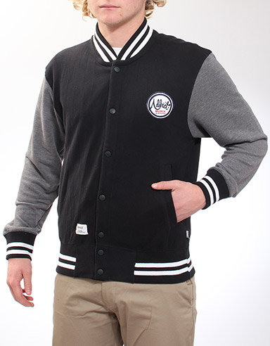 Addict Varsity Snap fastening sweatshirt - Black