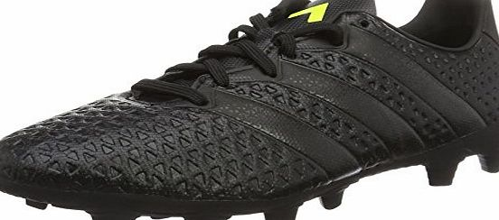 adidas Ace 16.4 Fxg, Mens Football Boots, Black (Core Black/Core Black/Solar Yellow), 11.5 UK