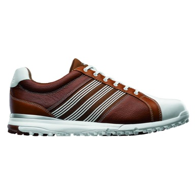 adiCROSS Tour Spikeless Golf Shoes Brown
