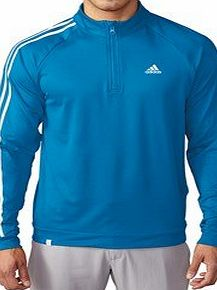adidas  Golf 2016 Mens 3-Stripes 1/4 Zip LC Logo Jacket - Shock Blue - XL