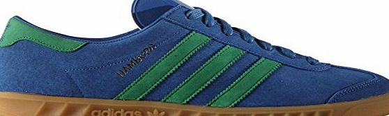 adidas  Hamburg Mens Suede Trainers Blue Green - 9 UK