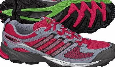 adidas  Response Trail 17 Ladies Running Shoes, Pink/Grey, UK4.5