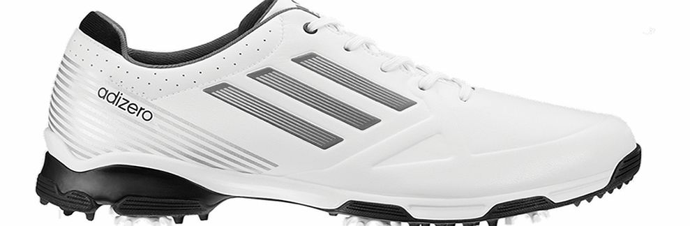 adiZERO 6 Spike Golf Shoes White/Silver