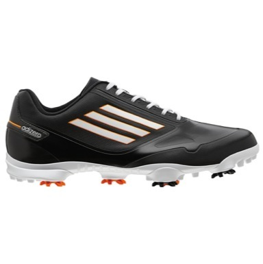 adiZero One Golf Shoes Black/White/Zest