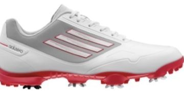 adiZero One Golf Shoes White/Grey/Red