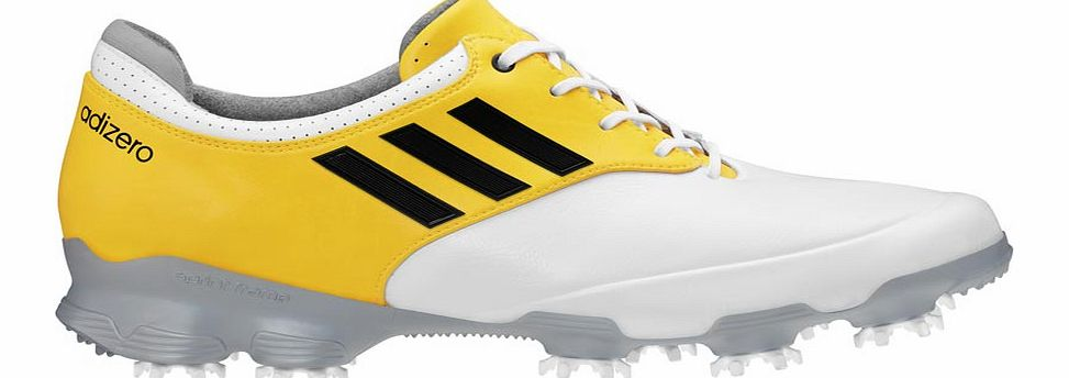 adiZERO Tour Golf Shoes White/Silver/Yellow