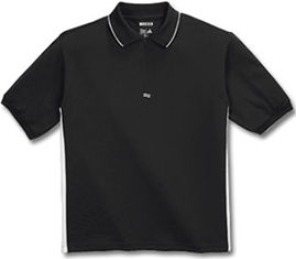 ClimaCool S/S Zip Polo Black 560223