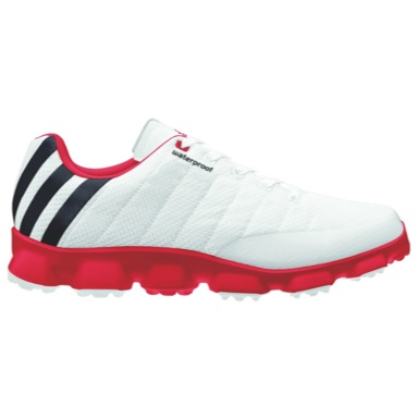 Crossflex Golf Shoes White/Red/Black