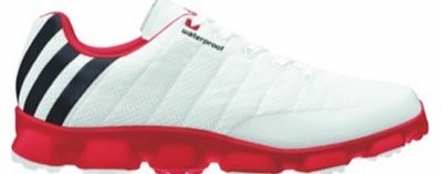 Crossflex Sport Golf Shoes White/Black/Red