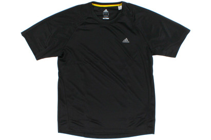 adidas Essential Climalite S/S T-Shirt Black/Vivid Yellow product image