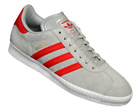Adidas Gazelle 2 Grey/Red Suede Trainers