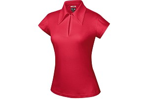 Ladies ClimaCool Solid Mesh Polo