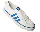 Adidas Nizza Lo White/Blue Material Trainers